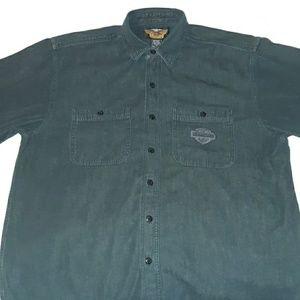 Harley Davidson Mens Short Sleeve Bar Shield Shirt